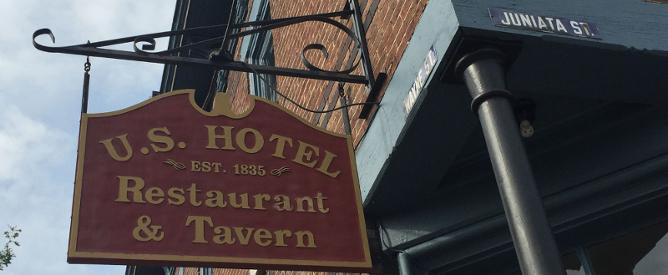 U.S. Hotel Tavern Sign
