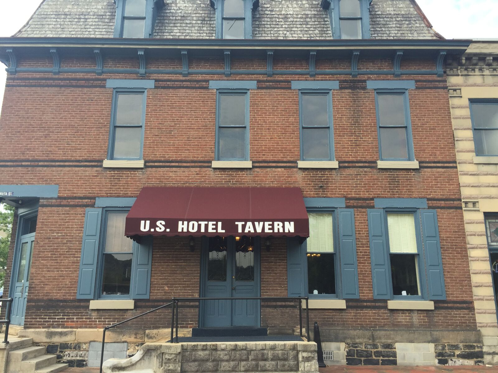 Front Awning of U.S. Hotel Tavern