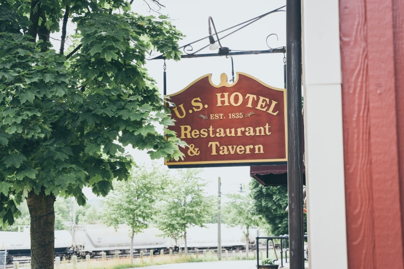 Exterior Sign of U.S. Hotel Tavern on Juniata St.
